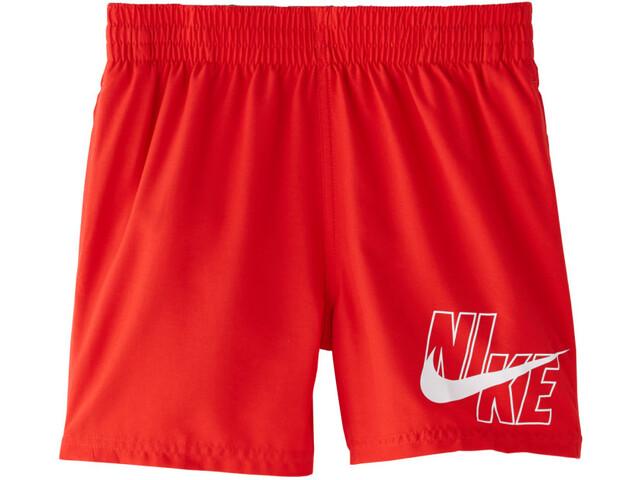 "Nike Swim Logo Solid 4"" Shorts Volley Niños, rojo"